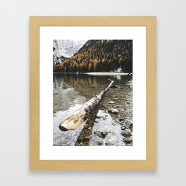 braies lake Framed Art Print