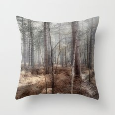 Pale Woods Throw Pillow