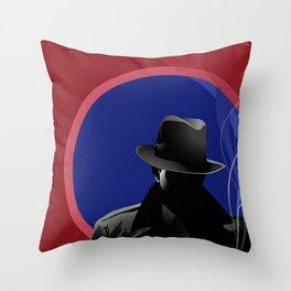 Smoking Detective Throw Pillow