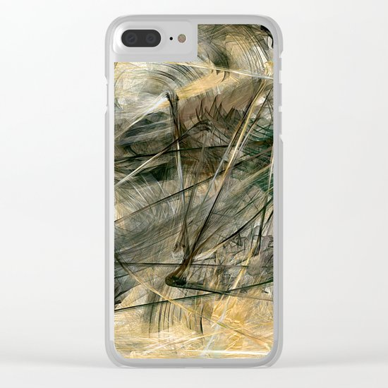 Silver and Gold Clear iPhone Case