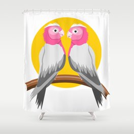 Galah Birds Shower Curtain