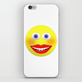 Smiley Female With Big Smiling Mouth iPhone Skin