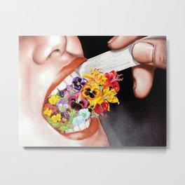 Gardens Flower in her Blooming Breath Metal Print