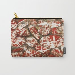 Red Paint Abstract Drip Stones AKA Pollock Carry-All Pouch