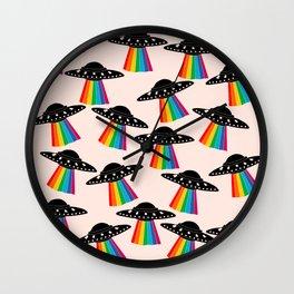 Cute UFO Wall Clock