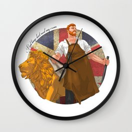 Real kings don't need any crown Wall Clock