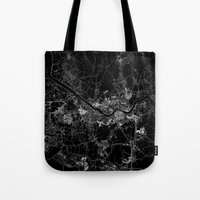 seoul Tote Bags featuring Seoul by Line Line Lines