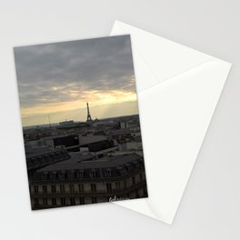 Eiffel Tower in the sunset Stationery Cards