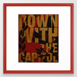 Down With The Capitol Framed Art Print