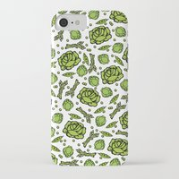 vegetables iPhone & iPod Cases featuring Green Vegetables by Alisa Galitsyna
