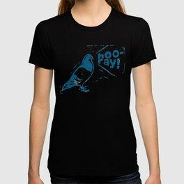 Hooray Pigeon (linocut) T-shirt