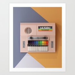 Muson Toy Synthesizer - The Sound of Music Art Print