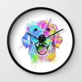 Golden Retriever Watercolor, Watercolor Dog, Golden Retriever Art Wall Clock