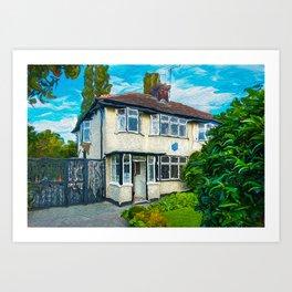 John's Boyhood Home Art Print
