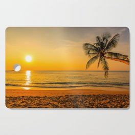 Beautiful Sunset over the Beach Cutting Board