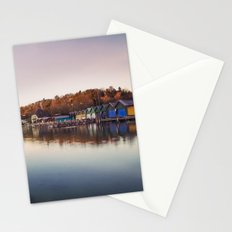 Dawn at the lake Stationery Cards