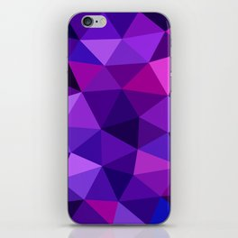 Crystal Galaxy Low Poly iPhone Skin