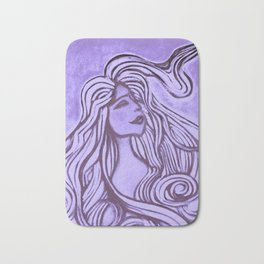 Purple Lotus Turtle Bath Mat
