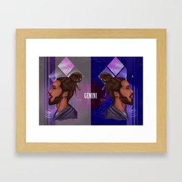 Gemini Zodiac Sign Framed Art Print
