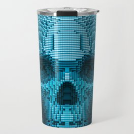 Pixel skull Travel Mug