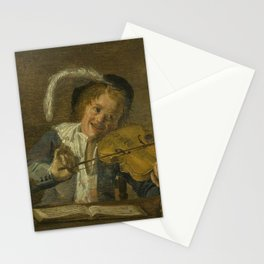 Judith Leyster - Violinist with a skull and a music book Stationery Cards