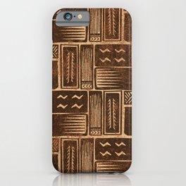 UrbanNesian Brown Siapo Pattern iPhone Case