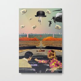 Utopian/Dystopian World Metal Print