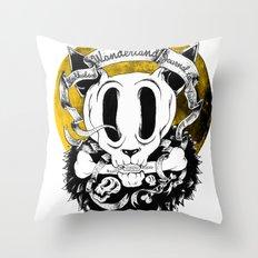 Dog skull Throw Pillow