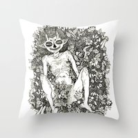 helen Throw Pillows featuring Part III: Helen Vaughan by Claire Sullivan