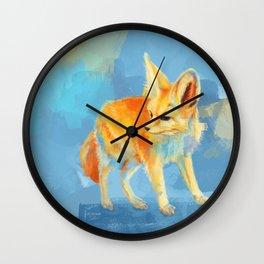 Sound of the Desert - Fennec Fox digital painting Wall Clock