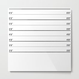 Police line up, usual suspects   shower curtain/bed cover Metal Print