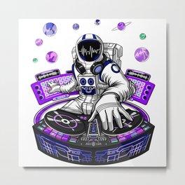 Psychedelic DJ Astronaut Metal Print