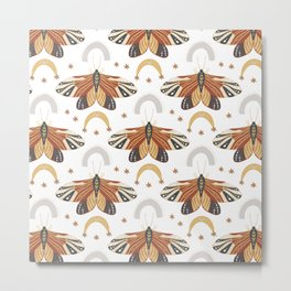Boho Moths No. 1 Metal Print