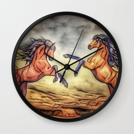 horse war Wall Clock