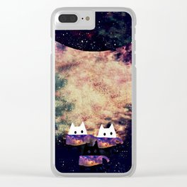 cats galaxy 262 Clear iPhone Case