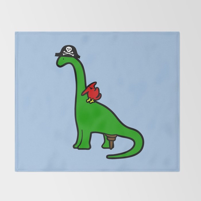 Pirate Dinosaur Brachiosaurus Throw Blanket By Jezkemp Society40 Delectable Dinosaur Throw Blanket