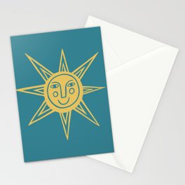 Cheerful Happy Sunshine Numero 1 Teal Stationery Cards