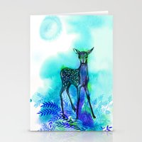 bambi Stationery Cards featuring bambi by anneamanda