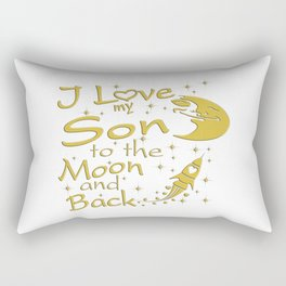I Love My Son to the Moon and Back Rectangular Pillow