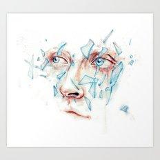 Shattered emotions Art Print