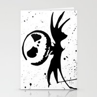 nightmare before christmas Stationery Cards featuring Jack Skellington - Nightmare before Christmas by bailey harper