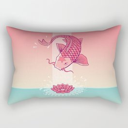 Perseverance // Koi & Lotus Rectangular Pillow