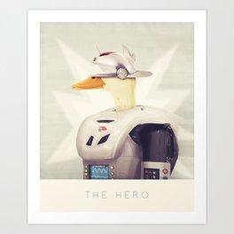 Justice Ducks - The Hero Art Print
