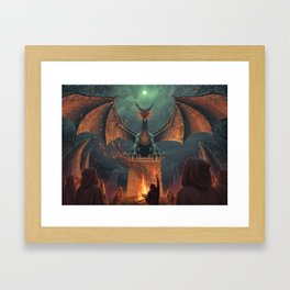 Draconic Ritual Framed Art Print