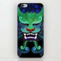 foo fighters iPhone & iPod Skins featuring Foo dog by kitsunebis