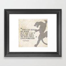 Famous Last Words: Huey Newton Framed Art Print