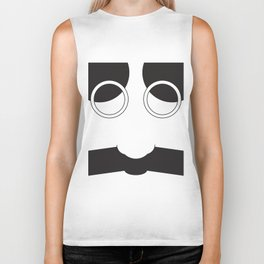 Face Groucho Graphic Biker Tank