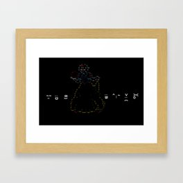 Snow White and the 7 Emoticons Framed Art Print