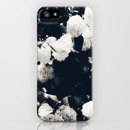 High Contrast Black and White Snowballs II iPhone Case