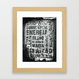 Energia Framed Art Print